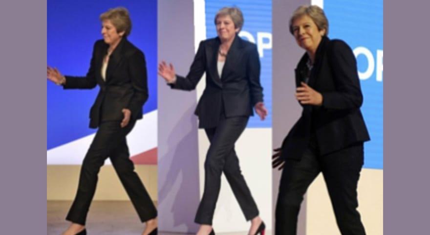 Theresa May Awkward Dancing Meme