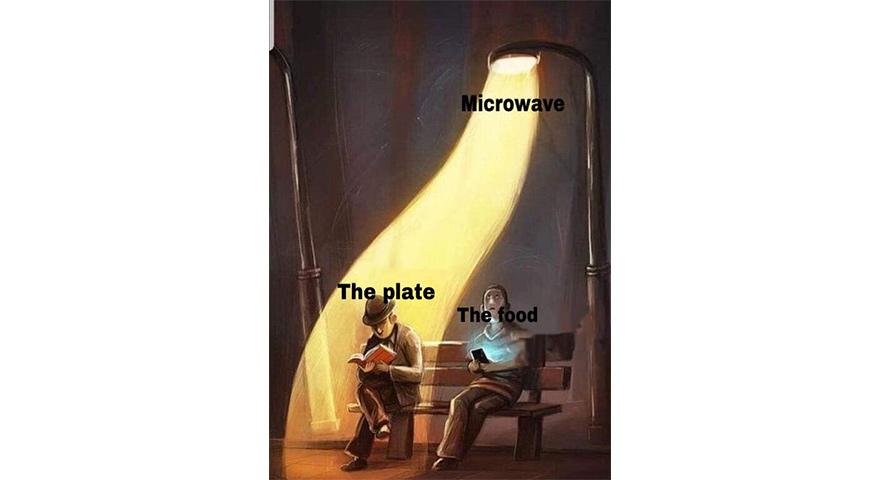 Street Lamp Shining On Bench Memes