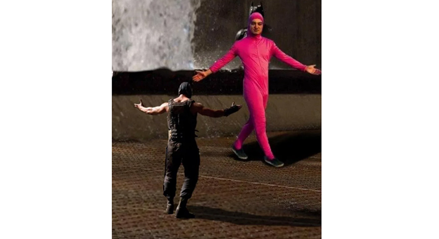 Bane vs. Joji/Pink Guy/Filthy Frank Memes
