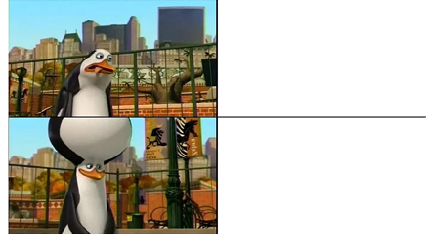Small Brain / Big Brain Kowalski Penguin Memes