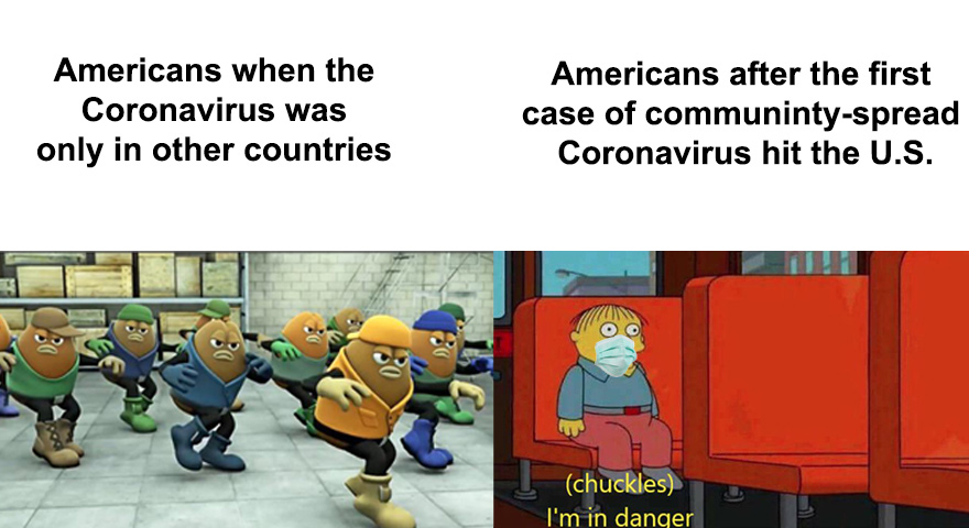 Coronavirus International Spread And Panic Memes