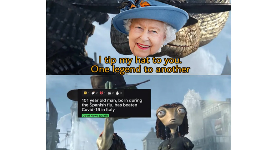 The Queen vs. Coronavirus Memes