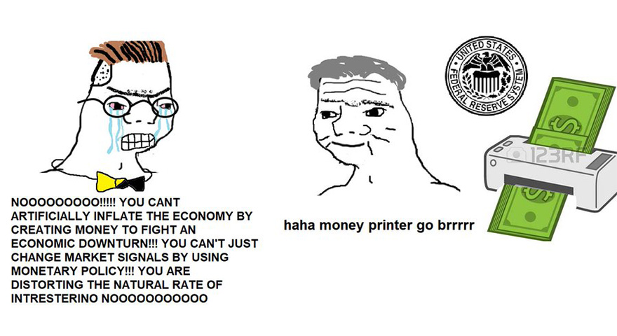Wojak Go Brrr Memes – 'Haha Money Printer Go Brrr'