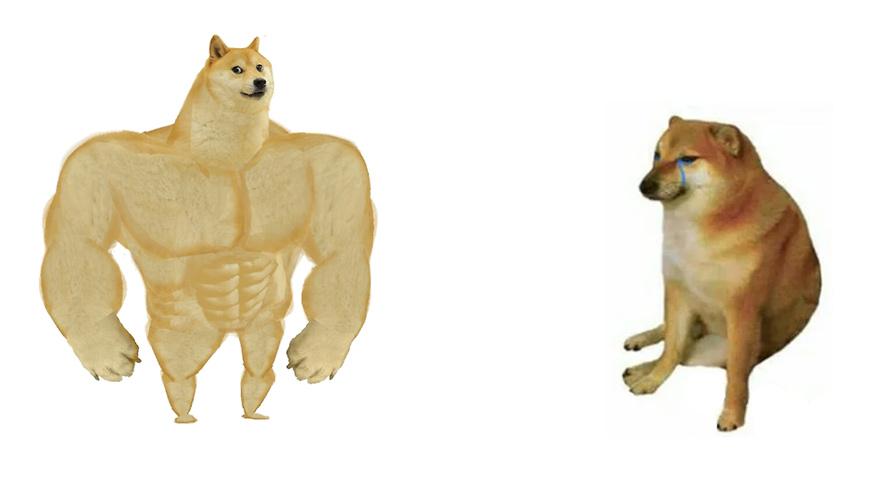 Buff Doge vs. Crying Cheems Memes
