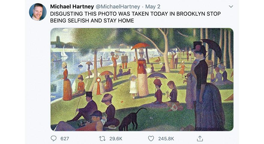 Large Crowds vs. Social Distancing Memes