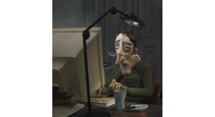 Dad From Coraline Memes Charlie Jones At The Computer Stayhipp
