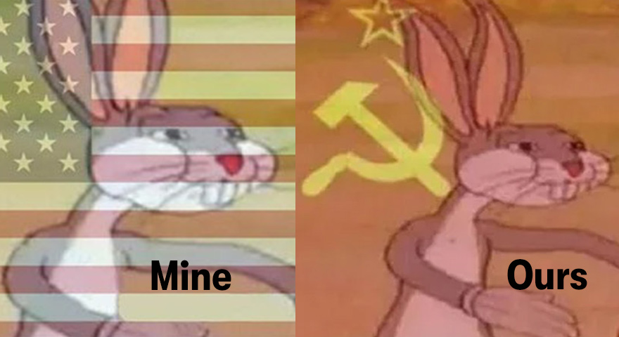 Communist Bugs Bunny Vs. American Bugs Bunny Memes