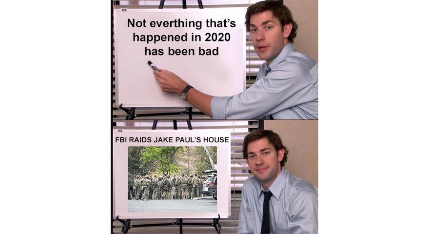 Jake Paul FBI Raid Memes