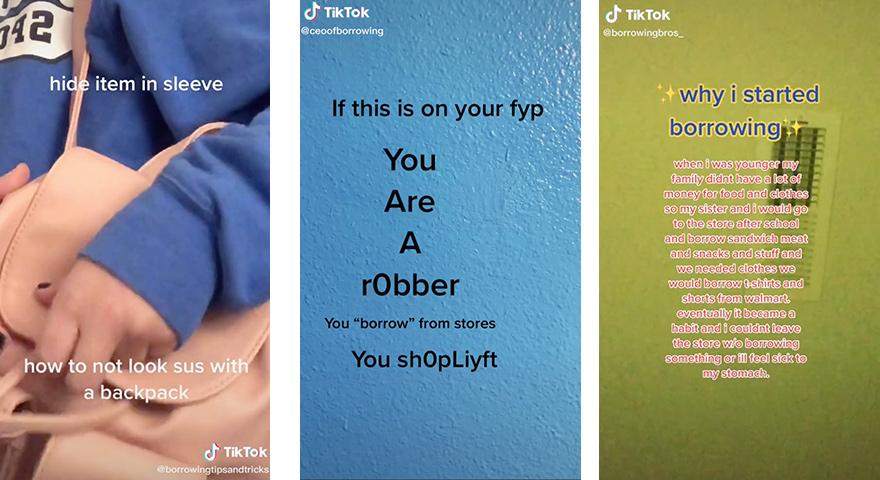 TikTok 'Borrowing' Videos Share Shoplifting Tips
