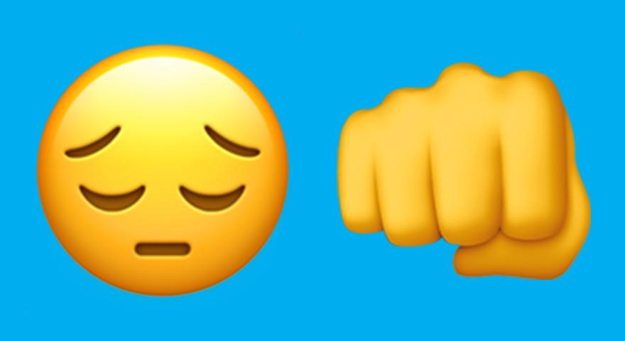 What Does 😔 👊 Mean? Sad Face + Fist Bump Emoji