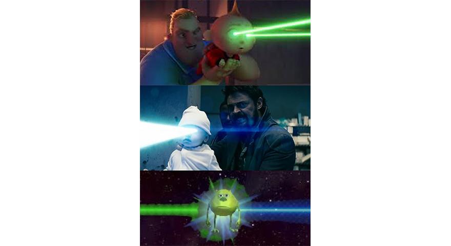 Laser Eyes Baby Memes – Incredibles 2, The Boys, Mike Wazowski