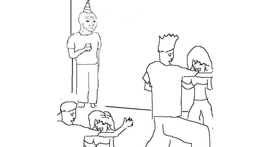 Wojak At A Party Memes – 'They Don't Know'